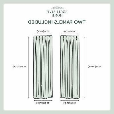 Exclusive Home Curtains Textured Sheer Pinch Pleat