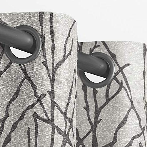 Exclusive Branches Blend Grommet Top Panel Pair, Black Pearl, 54x96