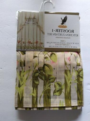 Cali Linens Kitchen Curtain Set Curtain Tier