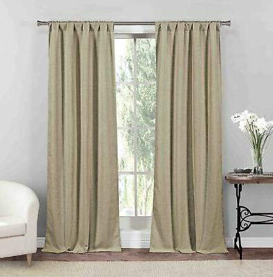 Window Elements Elinor Linen Blend Jacquard 76 x 96 in. Grom