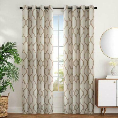 curtains for bedroom moroccan tile linen textured