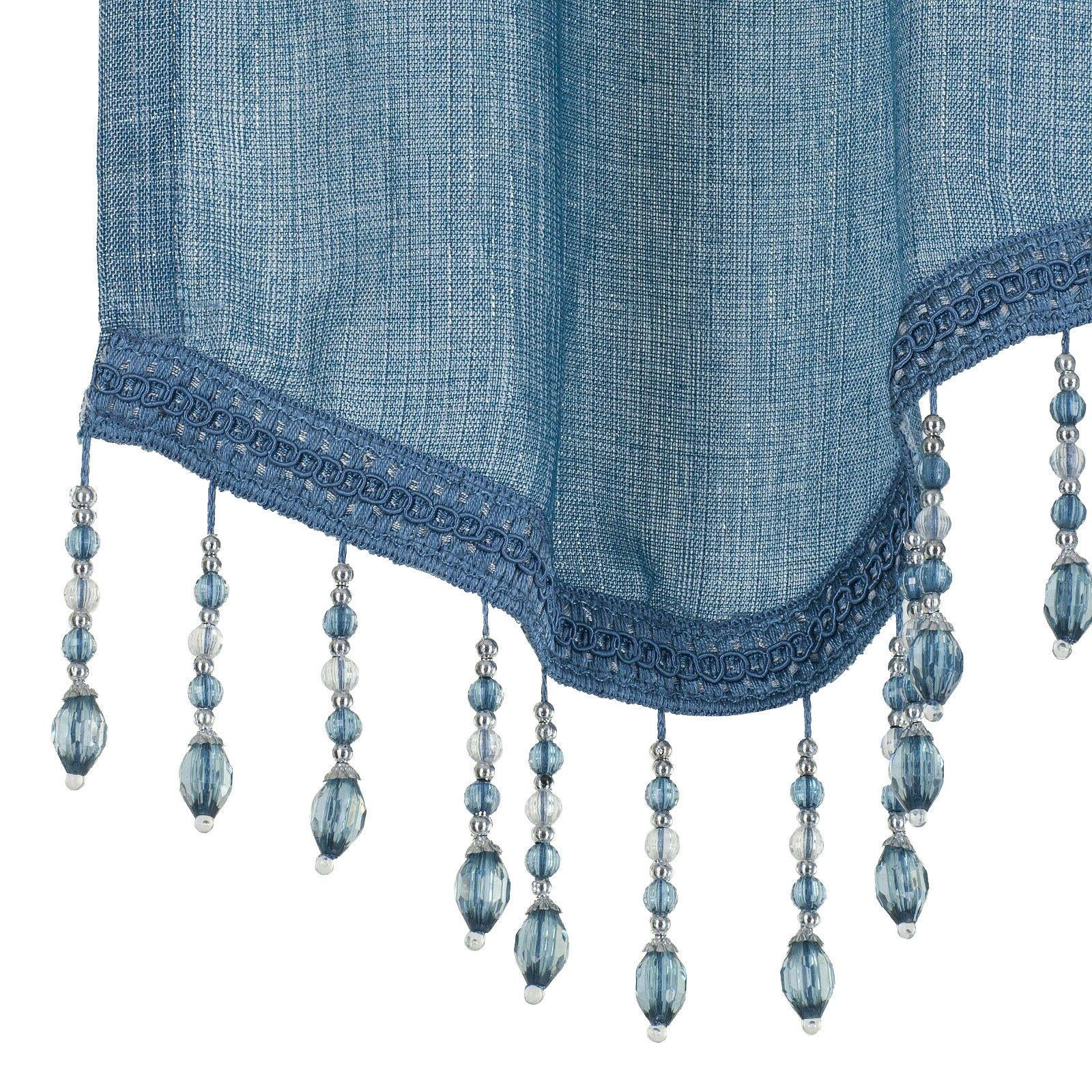 Kate Elegant Beaded Scalloped Window -