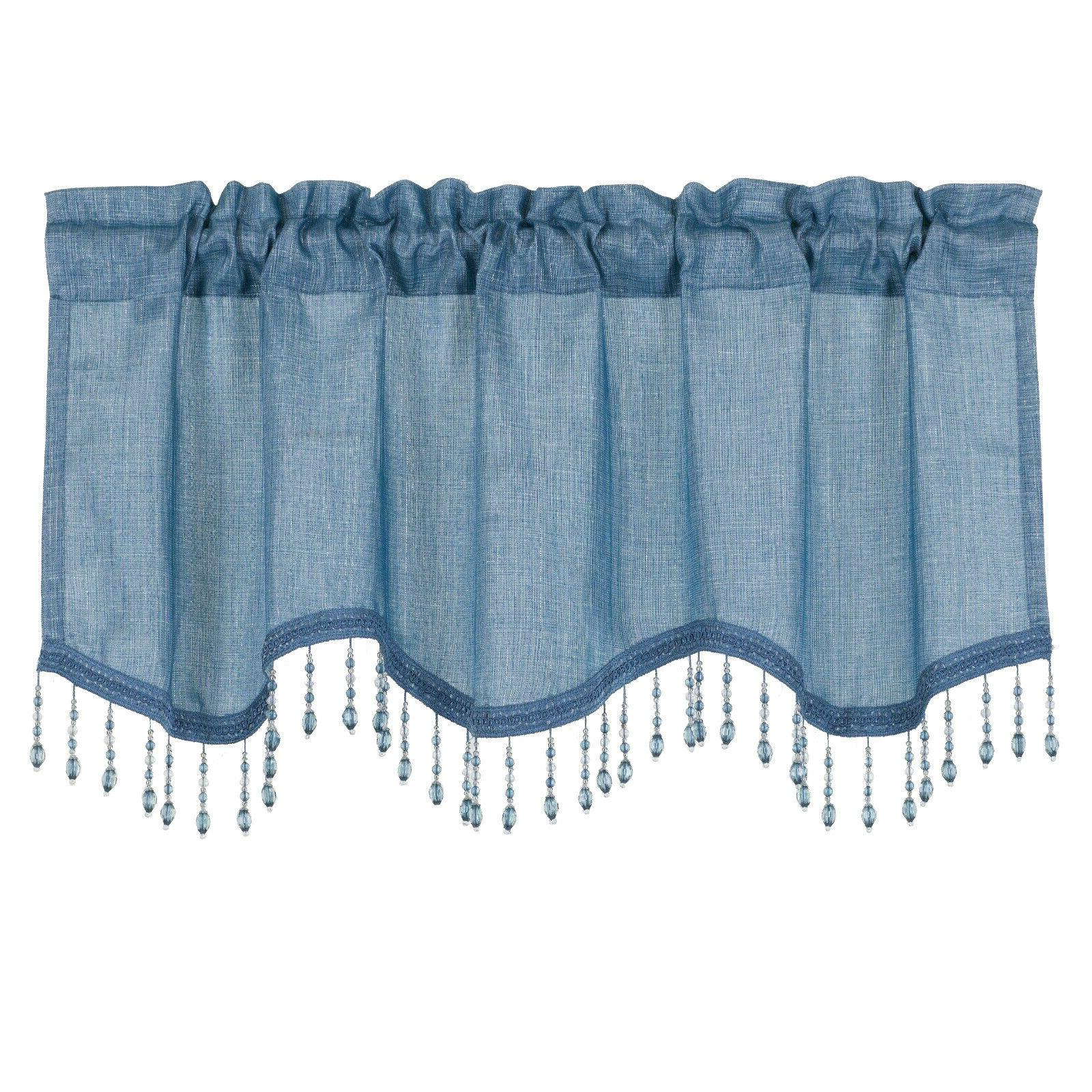 Scalloped Window Valance Curtains -