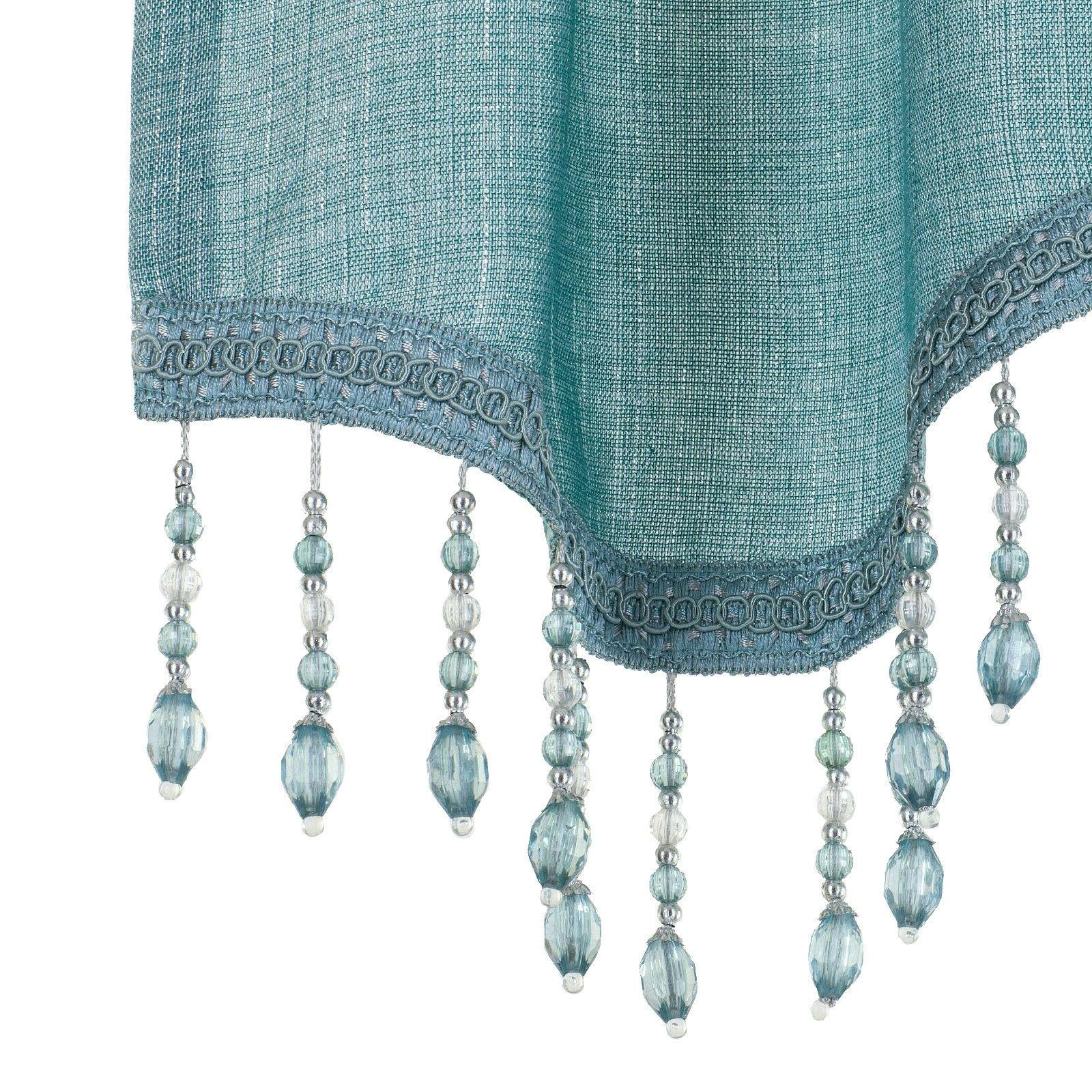 Kate Aurora Scalloped Window Curtains -