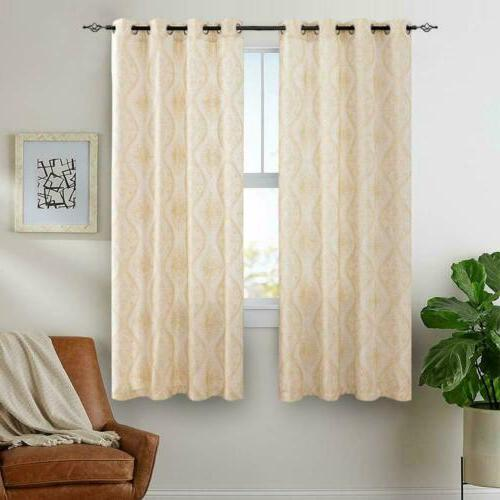 Embroidered Design Textured Curtains for Living Room