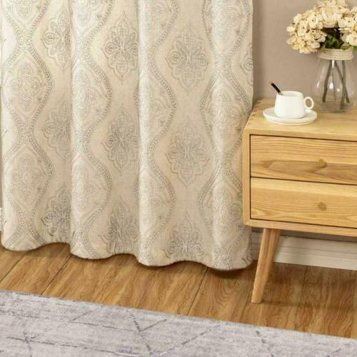 Embroidered Textured Curtains for Living Room