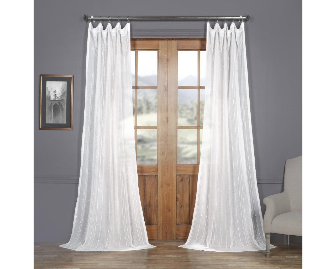 exclusive fabrics and furnishing faux linen sheer
