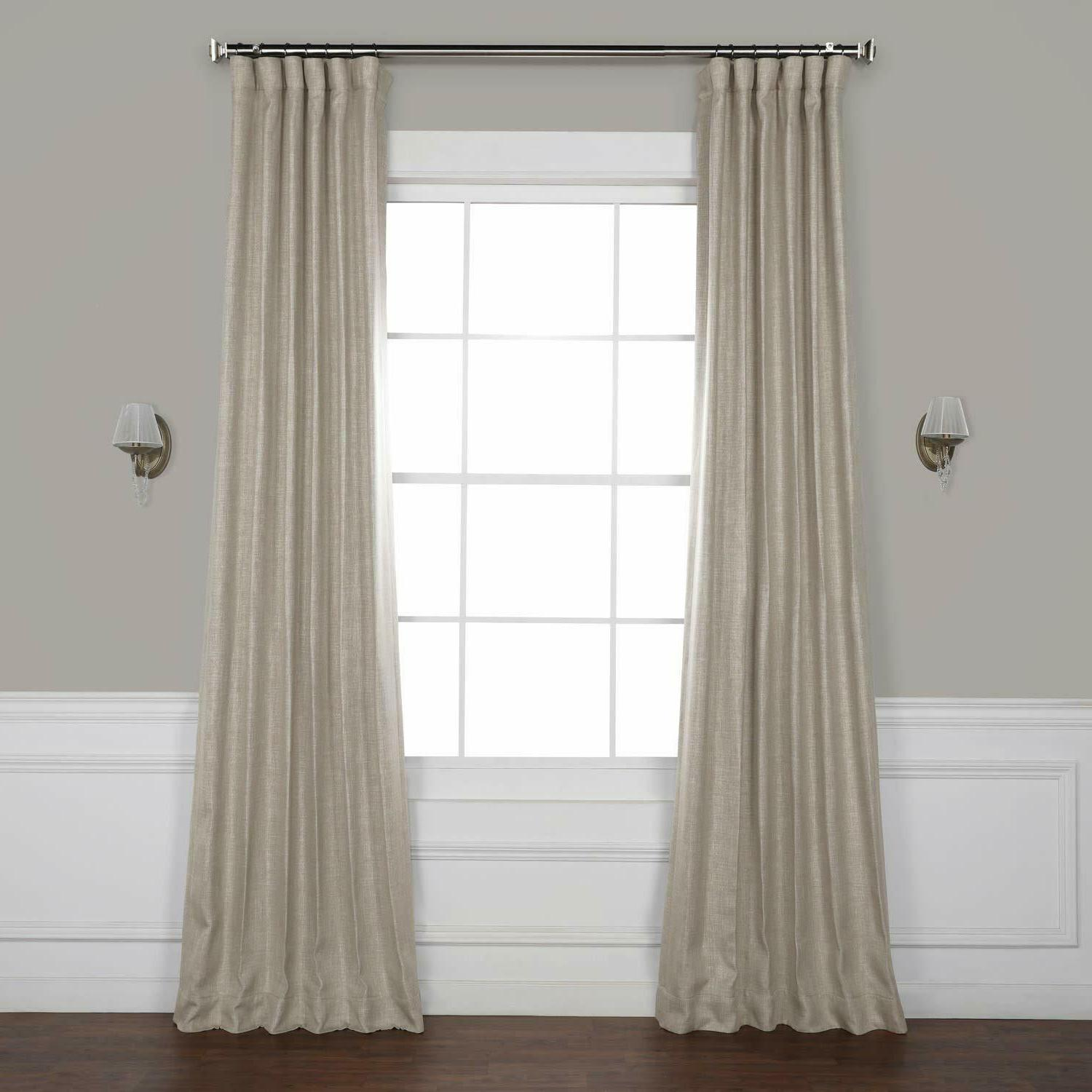 exclusive faux linen blackout room darkening curtain
