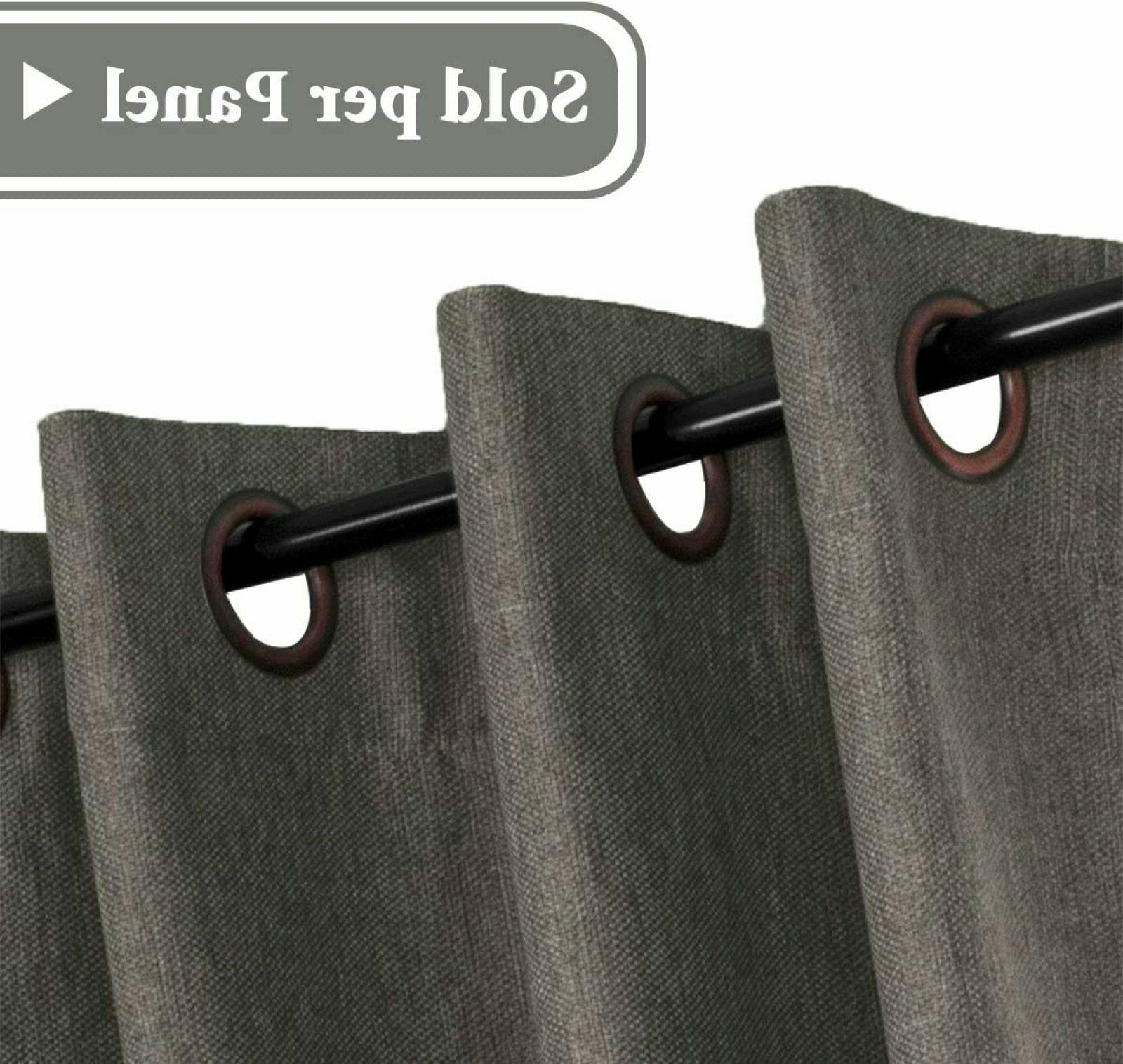 Linen Curtains Light Blocking Thermal Taupe Gray Panel