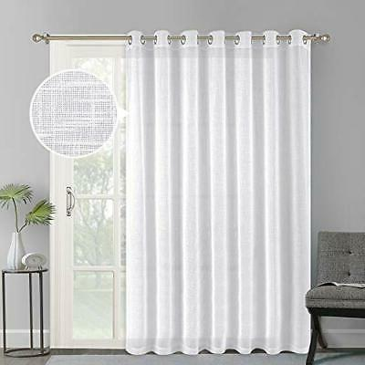 linen like patio door curtains extra wide