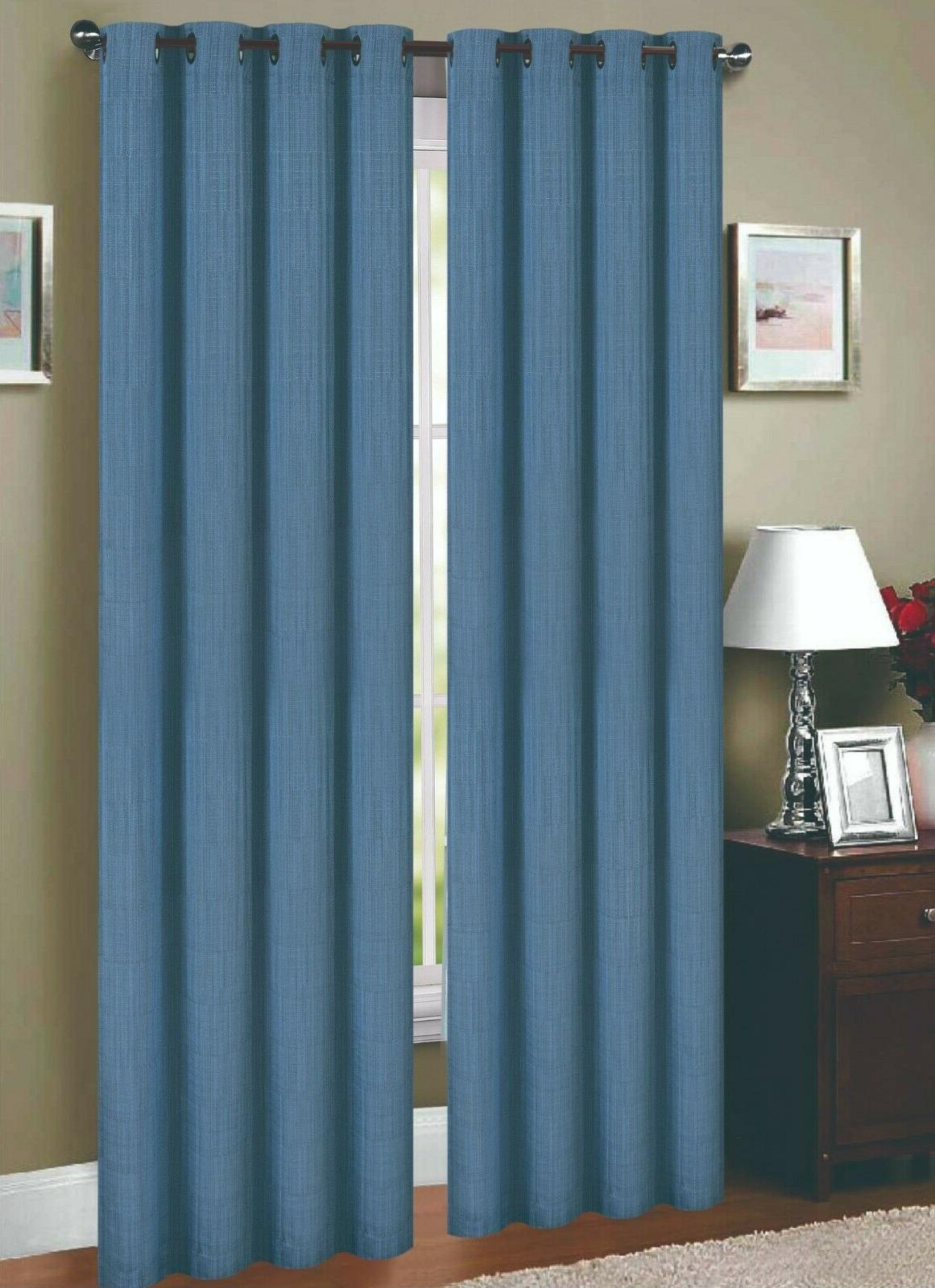 linen lined and interlined grommet top window