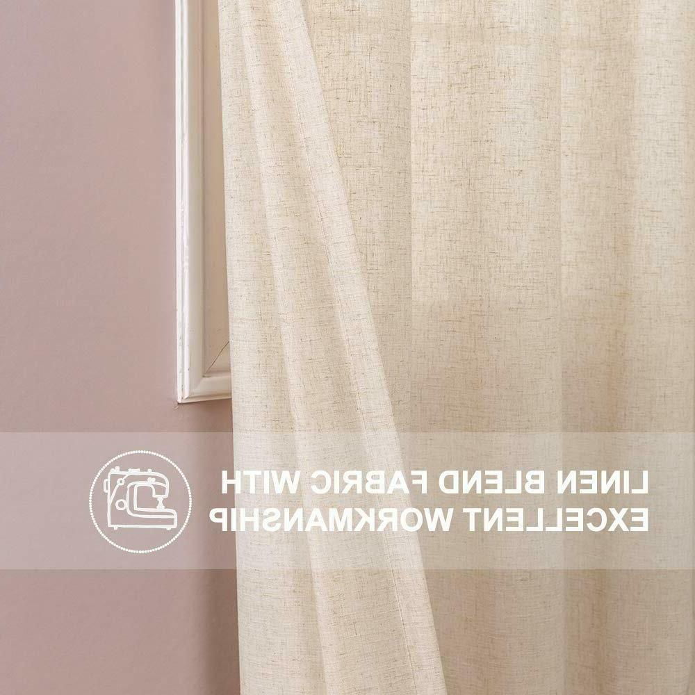 Linen Textured Curtains for Living Window 2