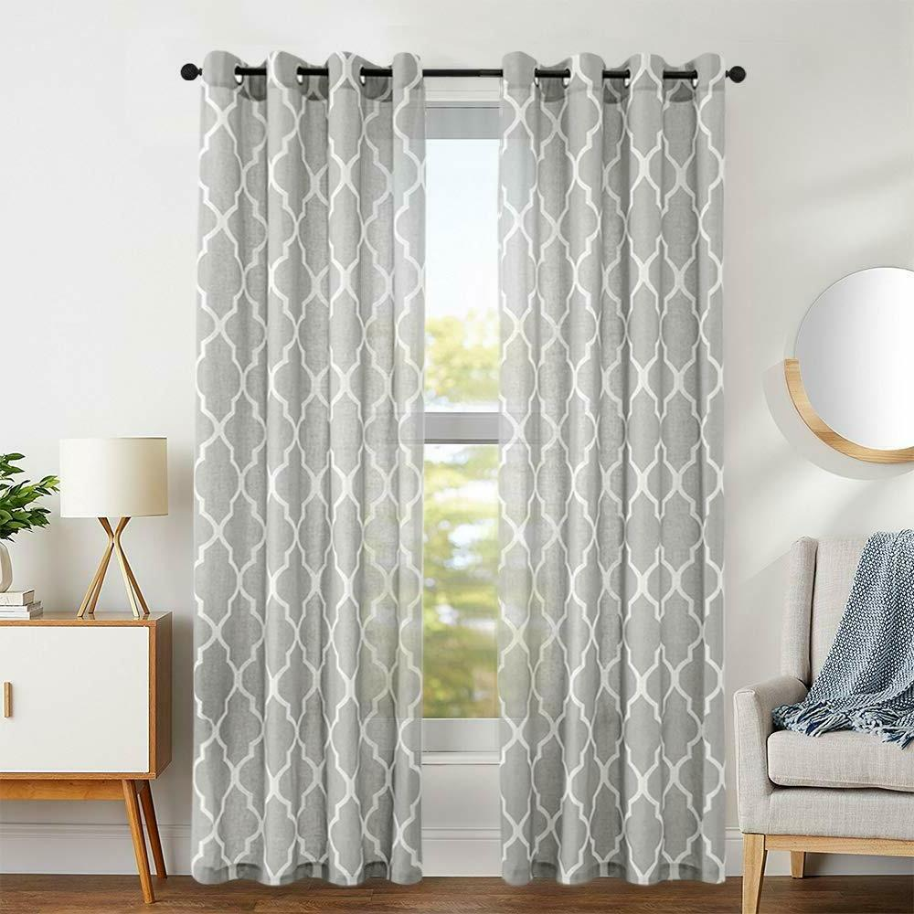 moroccan tile print curtains for bedroom curtain