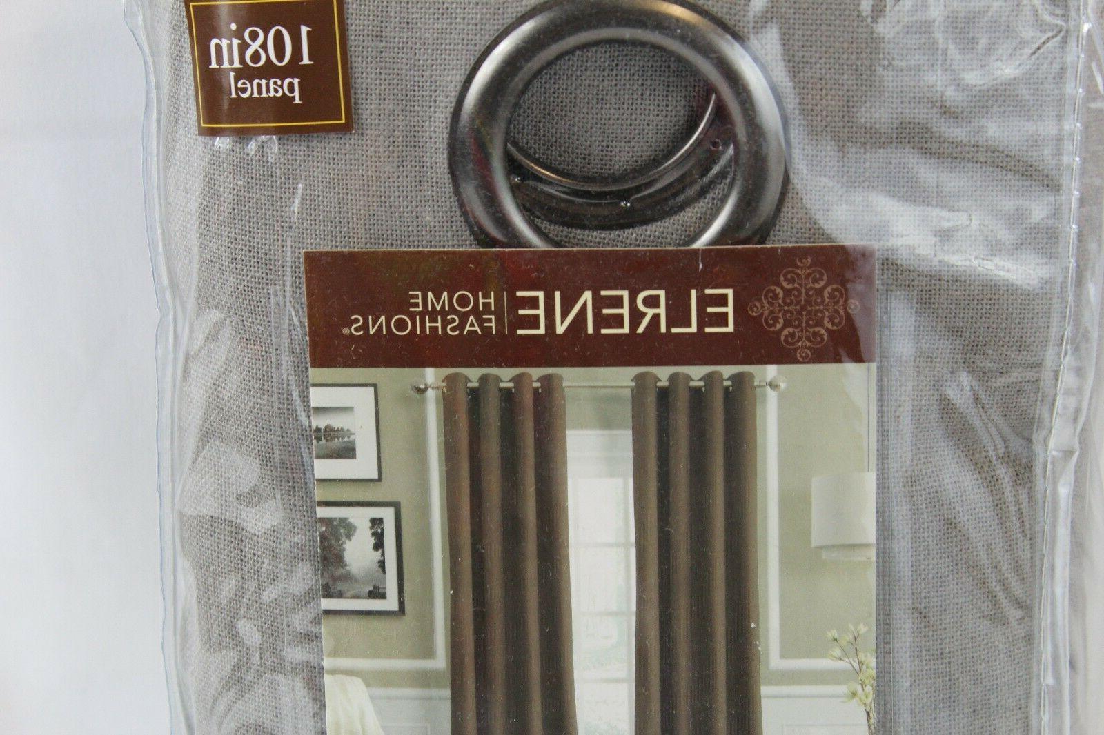 "New Home Essex Grommet 108"" Panel Curtain Gray $70"