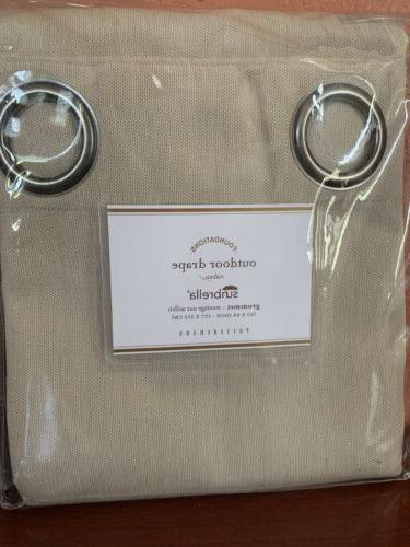 """S2 Pottery Barn Solid Grommet Curtain 50""""x84"""" Linen"""