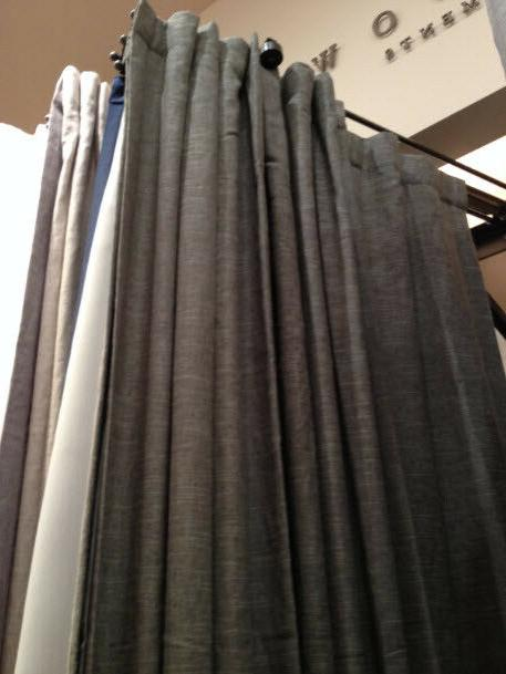 set 2 emery drapes navy blue 50x84l