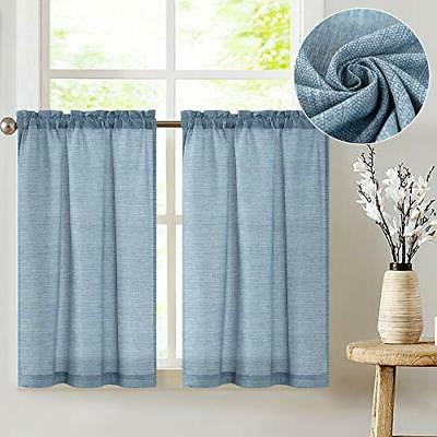 tier curtains linen textured 36 inches long