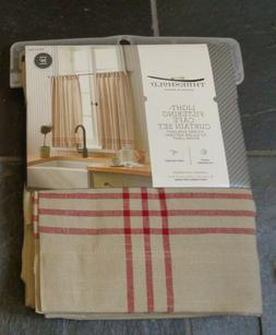 "Threshold Light-Filtering Cafe Curtain Set Two 42""x 36"" LINE"