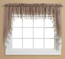 Lillian Macrame embroidered kitchen curtain collection - Lin
