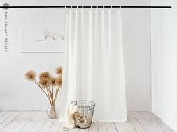 Linen antique white curtain  - heavier weight off white drap