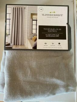 Threshold Linen Aruba 99.9% Blackout ONE Panel Curtain Gray