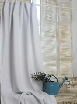 Linen Back TabCurtain Panel with Blackout Lining- Natura