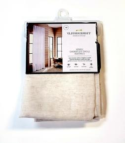 Threshold Linen Blend Light-Filtering Curtain Panel Natural