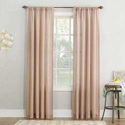 "Linen Blend Sheer Rod Pocket Curtain Panel - Blush - 54"" x 8"
