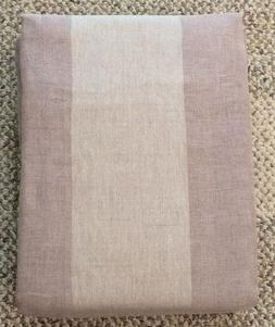 linen cotton sheer stripe curtain panel 100