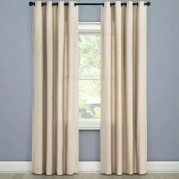 Threshold Linen Light Filtering Curtain Natural 95 in L