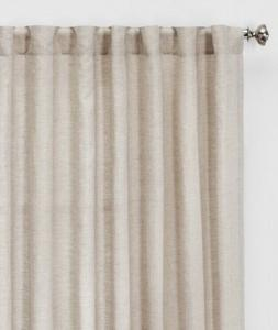 Threshold Linen Light Filtering Curtain Panel  84 x 54  NEW