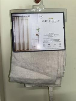 "Linen Light Filtering Curtain Panels - Threshold 54"" W x 84"""