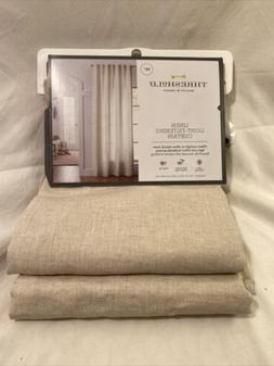 Threshold Linen Light-Filtering Curtains 54x95 in. 1 Piece