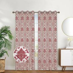 Linen Lined and Interlined Grommet Top Window Curtain Panel,