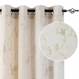 Linen Textured Curtains Living Room mbroidered Design Window