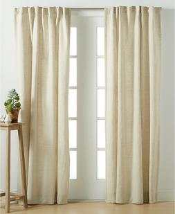 """Hotel Collection Linen Natural 54"""" x 84"""" Window Panel, Only"""