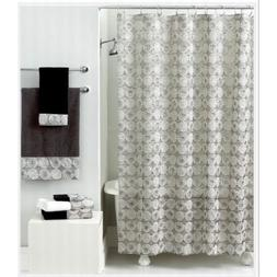 Avanti Linens Galaxy Shower Curtain Silver