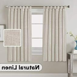 Living Room Linen Top Curtains Privacy Window Treatment 2 Pa