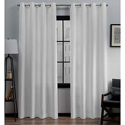 Loha Linen Grommet Top Curtain Panel Pair 52x96 Winter White