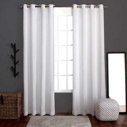 Exclusive Home Loha Linen Grommet Top Curtain Panel Pair, Wi