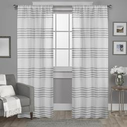 Exclusive Home Curtains Monet Pleated Sheer Linen Cabana Str