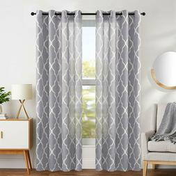 moroccan tile curtains print for bedroom flax