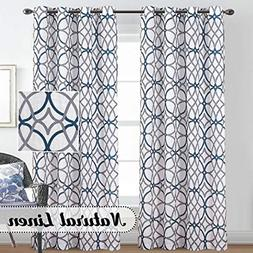Natural Linen Curtains Nickel Grommet Window Panel Drapes 52
