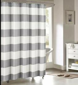 Toto Nautical Striped Mildew Resistant Fabric Shower Curtain