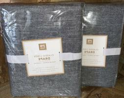 New~2 Pottery Barn~Classic Linen Blackout Curtains Drapes 44