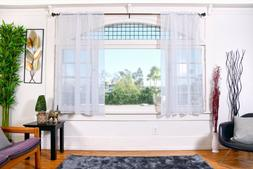 """All American Collection New 2pc Doli Sheer Curtain 63"""" and 8"""