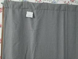 New Threshold Charcoal Linen Aruba Blackout Curtain Panel H