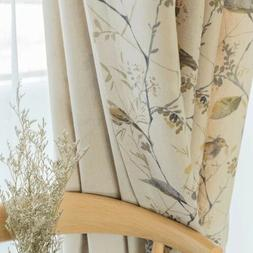 New Chinese Curtains for Living Dining Room Bedroom Cotton a
