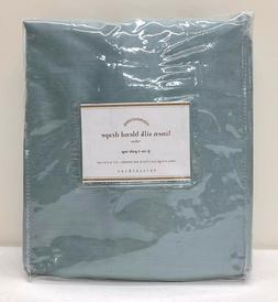 NEW Pottery Barn Linen Silk Blend Cotton Lined Drape Curtain
