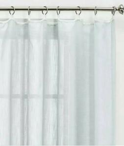 NEW One  Threshold Blue Linen Window Curtain Sheer Panel 54x
